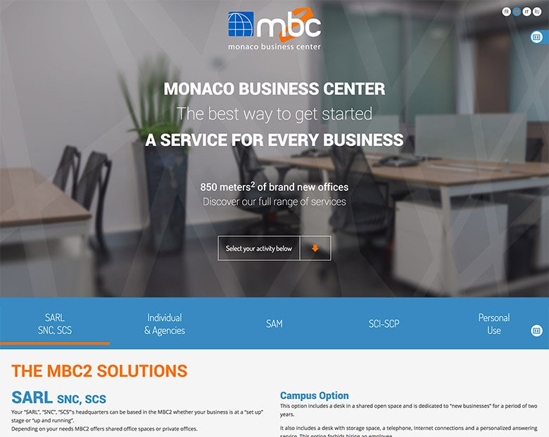Corporate One Page Design for MBC2